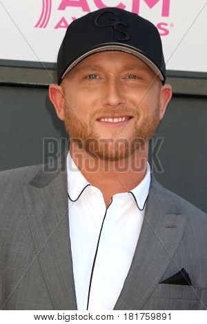 LAS VEGAS - APR 2:  Cole Swindell at the Academy of Country Music Awards 2017 at T-Mobile Arena on April 2, 2017 in Las Vegas, NV
