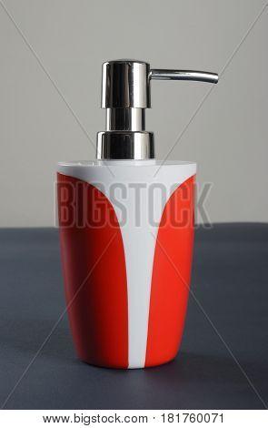 Plastic bottles with liquid soap or shower gel