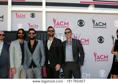LAS VEGAS - APR 2:  Old Dominion at the Academy of Country Music Awards 2017 at T-Mobile Arena on April 2, 2017 in Las Vegas, NV
