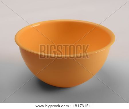Orange plastic deep dish isolated front view