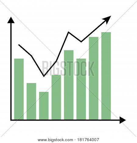 Template growth chart. Data infomation graph infochart report vector illustration