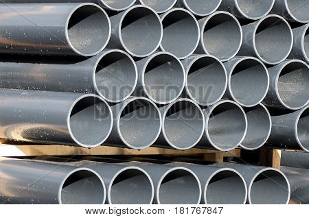 PVC pipe gray PVC pipes for irrigation system.