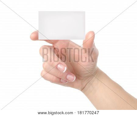 Cut-away to a hand isolated on a white background