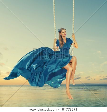 Woman Enjoying Swing
