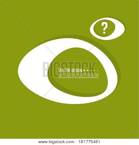 Question mark icon. Help symbol. FAQ sign on background. vector. Modern popular banner in the trend. Green color.
