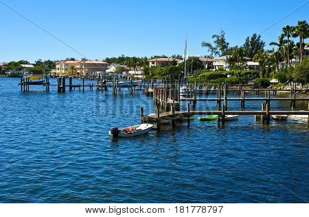 Ocean Front Beach Community with Boat Docks and Water Access
