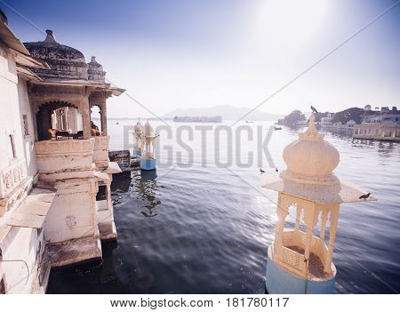 The Majestic Lake Pichola, Travel Destination In Rajasthan, Udaipur  City, India
