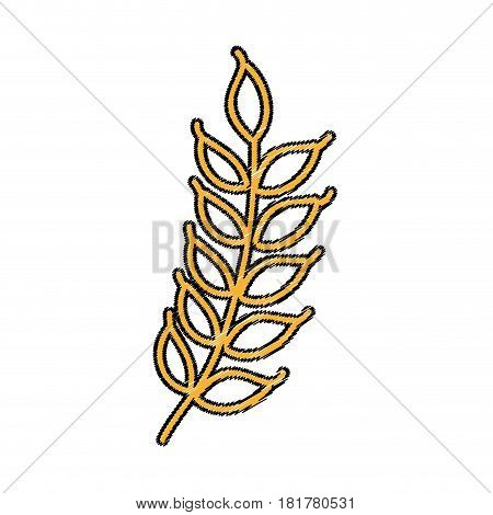 weath leafs isolated icon vector illustration design