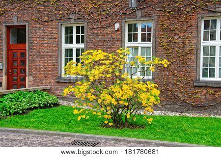 Krakow Poland - May 1 2014: Inner courtyard of Wawel Castle of Krakow Poland