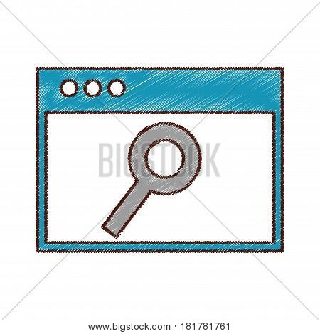 template webpage isolated icon vector illustration design