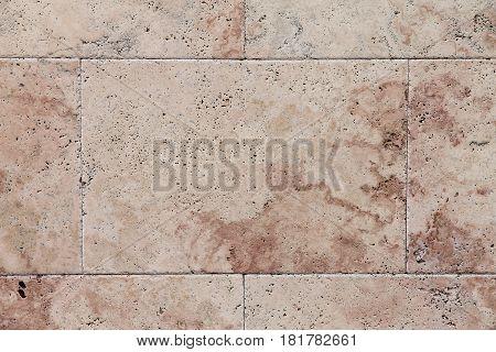 Thr natural Italian stone. Smooth travertine surface