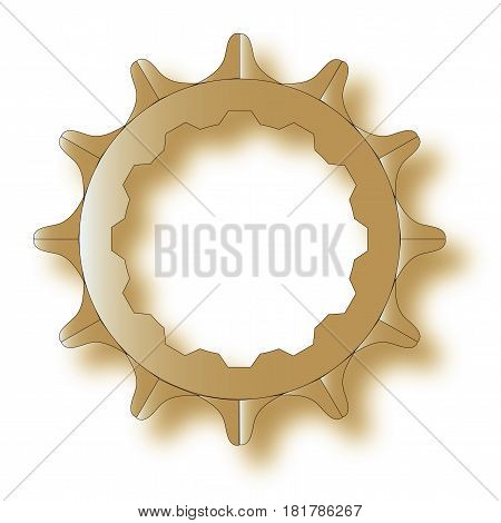 The rear driven cog of a bicycle.