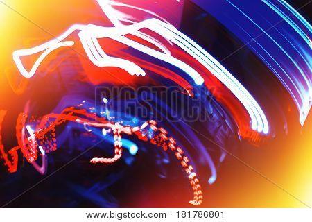 Vivid light illumination laser traces with light leak backdrop