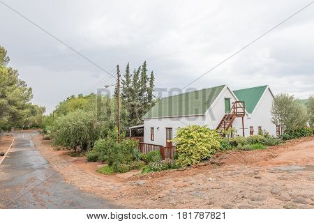 DE RUST SOUTH AFRICA - MARCH 23 2017: A street scene in De Rust a village in the Western Cape Province of South Africa