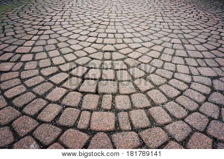 Stone pavement pattern. Abstract textured background.