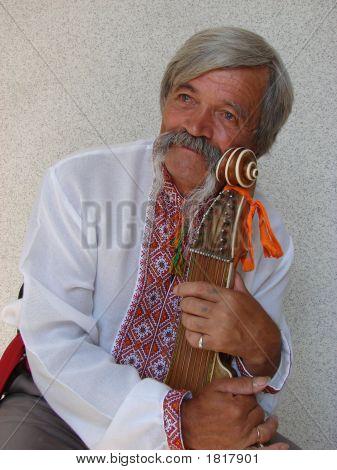Elder Ukrainian Bandurist Muscian 11