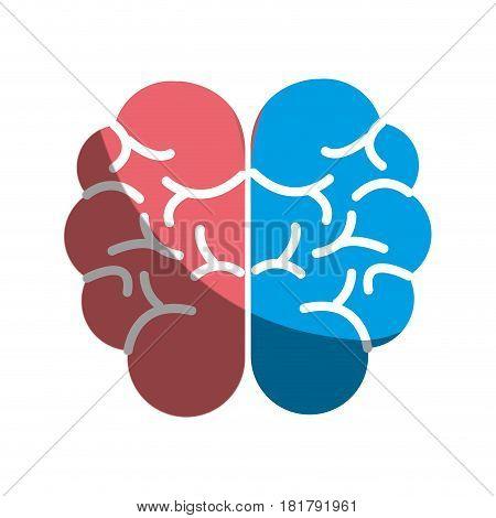mental health smart brain icon, vector illustration