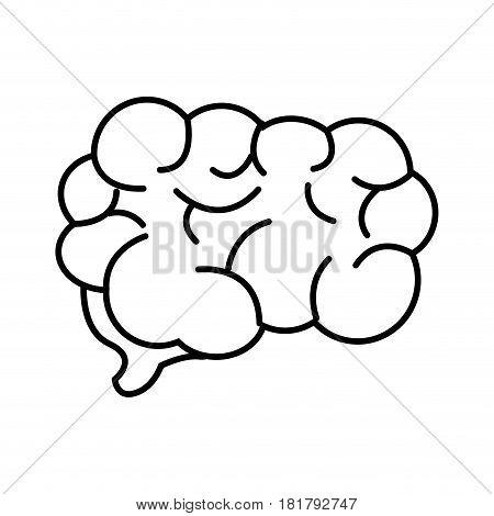 mental health smart brain line icon, vector illustration design