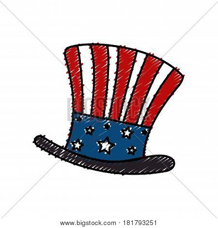 united states of america hat vector illustration design