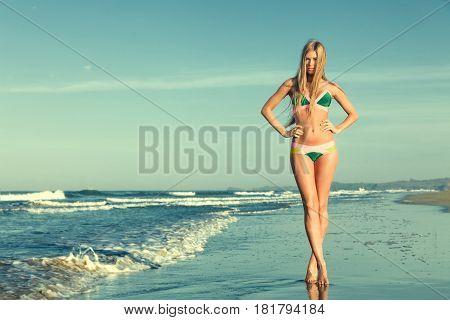 Woman At Tropical Sea