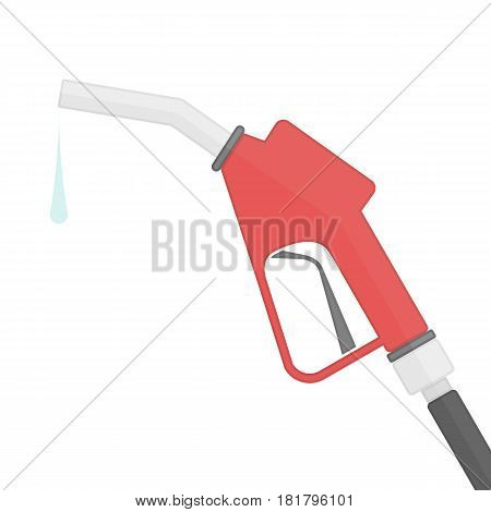 Fuel pump sign in modern flat style. Gas station icon isolated on white background. Fuel or Petrol station emblem. Vector illustration. EPS 10.