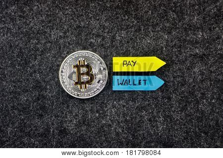 Silver Bitcoin Coin - Pay And Wallet