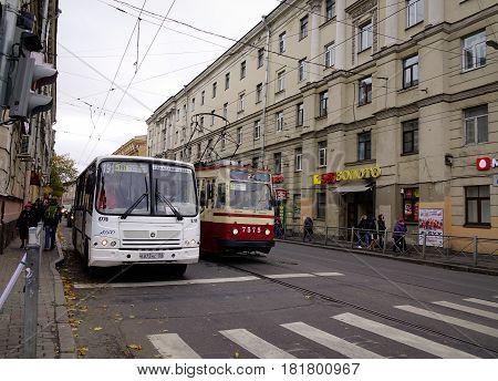 Street In Saint Petersburg, Russia