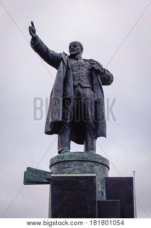 Lenin Statue In Saint Petersburg, Russia