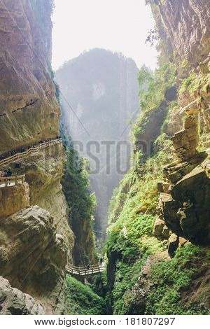 Chongqing China, Three Natural Bridges, Wulong Ancient  Natural Bridge Scenic Area, Wulong National