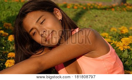 Athletic Teen Girl Stretching, Fitness and Healthy Lifestyle