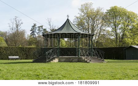 Band Stand in the Abby Grounds in Cirencester Gloucestershire UK