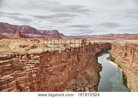 Incredibly beautiful view from Navajo bridige on the Grand Canyon, Arizona, USA.