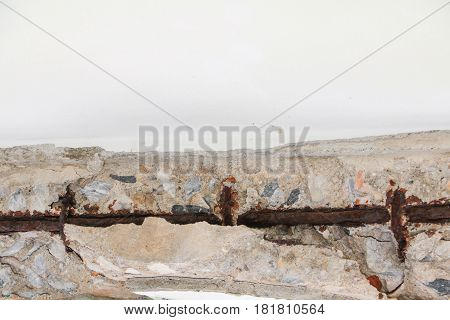 concrete cement texture wall with crack in building old background