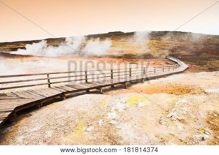 Seltun geothermal area in Krysuvik West Iceland