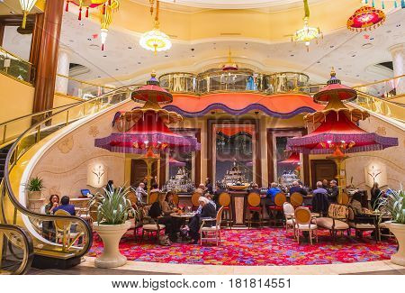 LAS VEGAS - JAN 08 : The Parasol Down bar at the Wynn Hotel and casino in Las vegas on January 08 2017. The Wynn hotel has 2716 rooms and it opened in 2005.