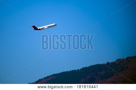Airplane Departure, Tranquil scene in a afternoon