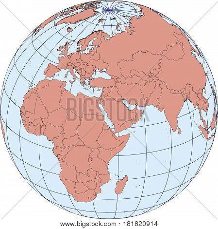 Europe And Africa Earth Globe Map