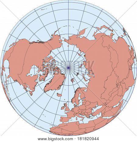 North Pole Earth Globe Map