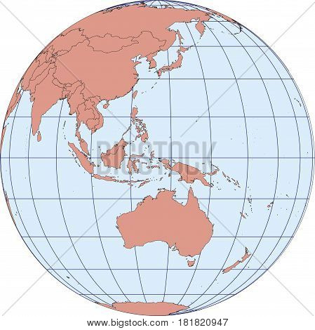 Australia And Oceania Earth Globe Map
