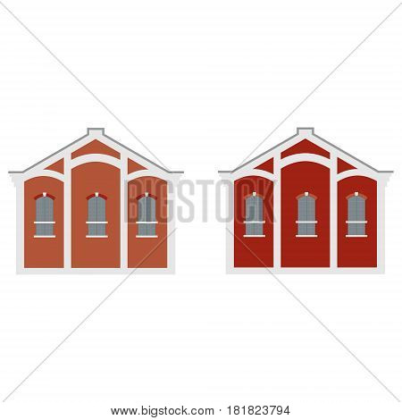 Vector illustration old town factory building. Architecture. Manufactory icon.