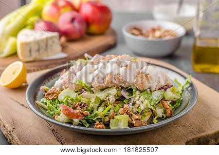Waldorf Salad With Grilled Chicken