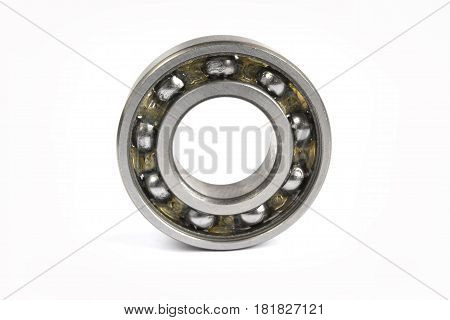 Close-up single bearing on the white background.