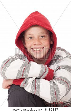 Young Boy With Red Hood