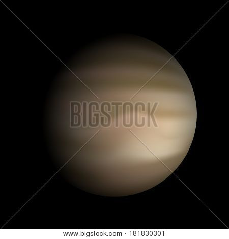 Vector Planet Venus on a black background