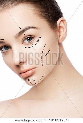 Beautiful Woman Girl Natural Makeup Spa Skin Care