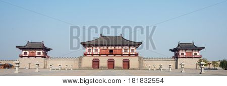 Luoyang, China - Nov 18 2014: Dingding Gate, Luoyang City Of The Sui And Tang Dynasty. Unesco World