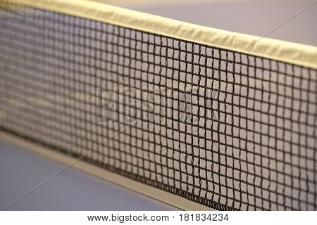 Net of a ping pong table