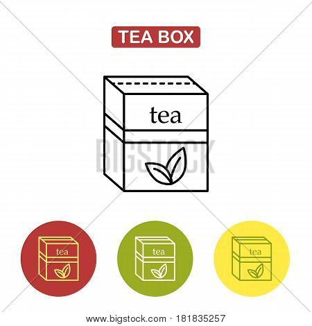 Packaging for herbal tea or spices. The box for your logo and design. Tea packed in a paper bag. Trendy vector Illustration isolated for graphic and web design.
