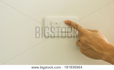 Abstract turning on off light switch background