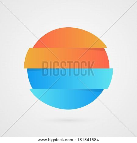 Orange and blue Circle sample. Vector infographics. Marketing sample icon. Business logo illustration isolated